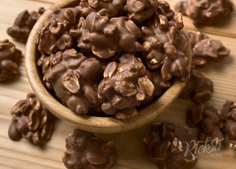 Zemesrieksti kraukšķīgā šokolādē 1 kg