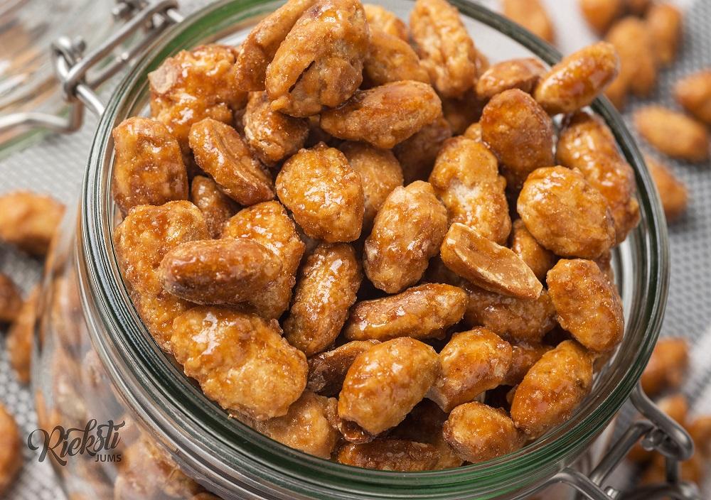 Grauzdēti karamelizēti zemesrieksti ar sāļas karameles garšu 1 kg