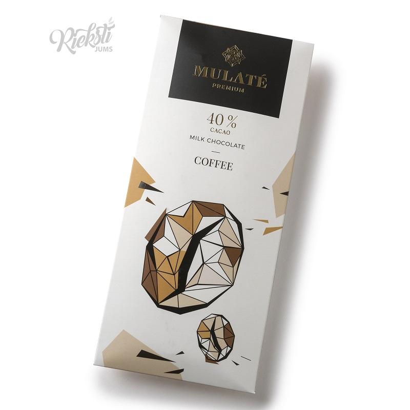 MULATE PREMIUM piena šokolāde ar kafiju, 90 g