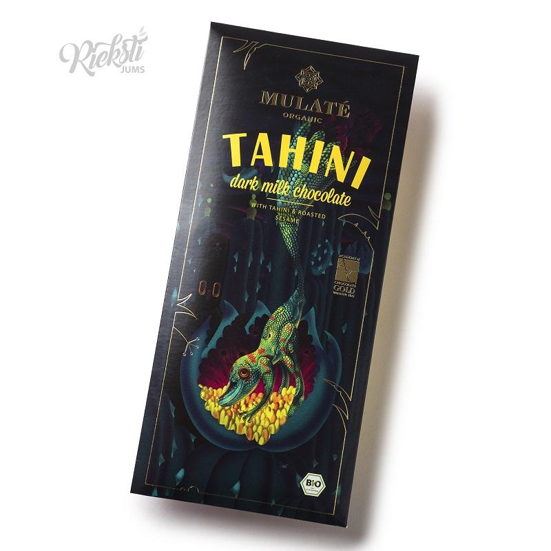 MULATE piena šokolāde ar tahini un grauzdētām sezama sēklām, 80 g