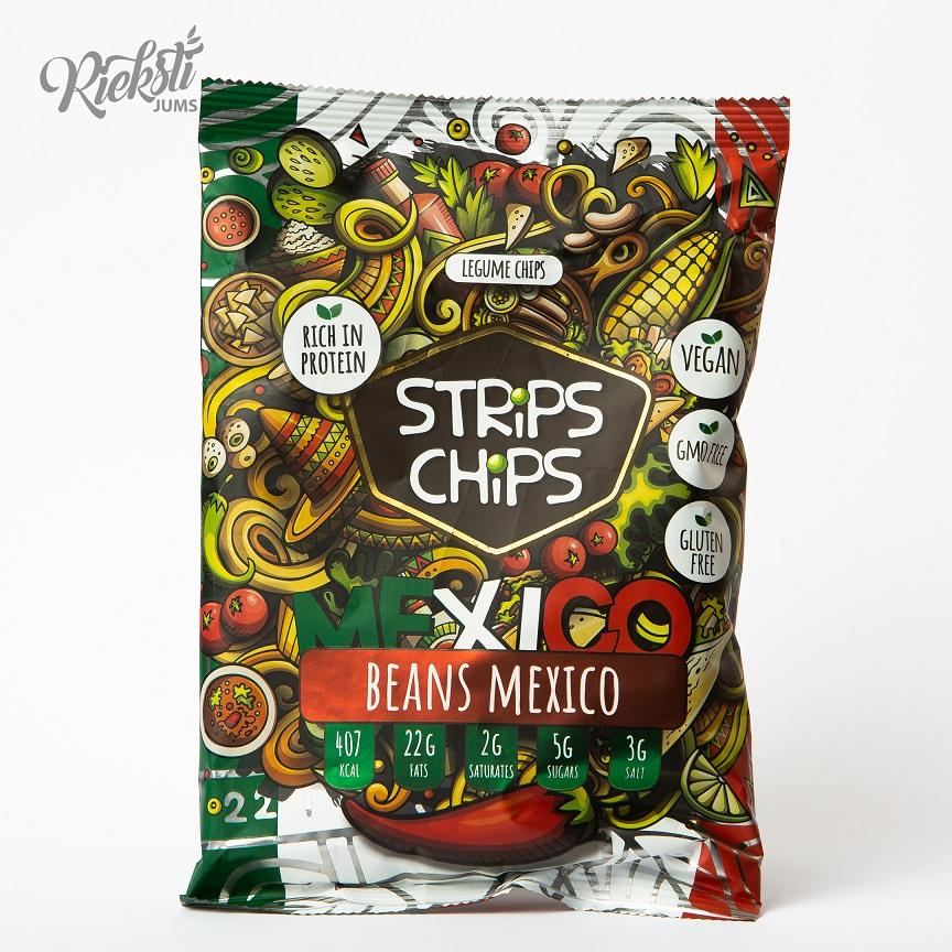 """Strips Chips"" pupiņu čipsi Meksika, 90 g"