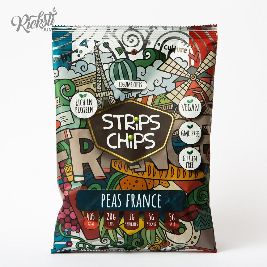"""Strips Chips"" zirņu čipsi Francija, 90 g"