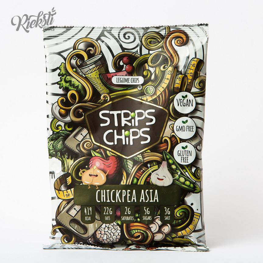 """""""Strips Chips"""" turku zirņu čipsi Āzija, 90 g"""